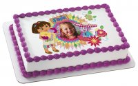 Dora the Explorer - Dora & Boots Fiesta Photo Cake Frame