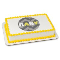 Baby Shower - Gray Chevron