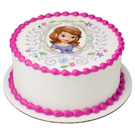 "SOFIA THE 1ST PRINCESS 8/"" Round Icing Image Edible Printed Cake Decor Topper"