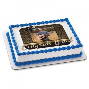 Graduation - Honeycomb Congrats Grad Photo Cake Frame