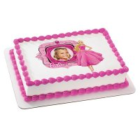 Barbie - Fabulous in Pink Photo Cake Frame