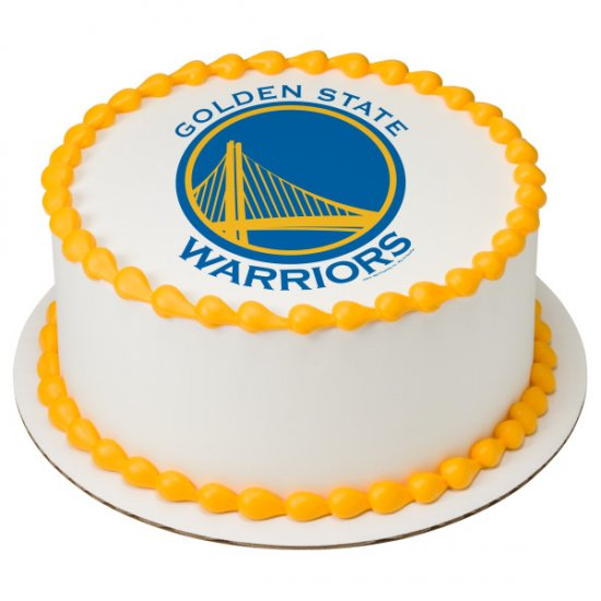 Golden State Warriors Edible Cake Topper Image Cupcakes Cookies Cake Topper