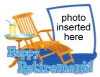 Retirement - Happy Retirement Chair Photo Cake Frame