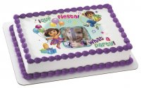 Dora the Explorer - What a Party! Photo Cake Frame