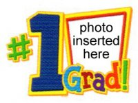 Graduation - #1 Grad Photo Cake Frame