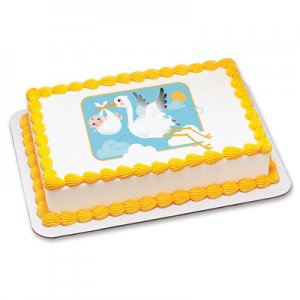 Baby Shower - Stork and Baby