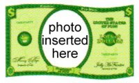 Teens - Dollar Bill Photo Cake Frame