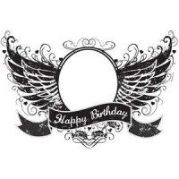 Happy Birthday Wings Photo Cake Frame