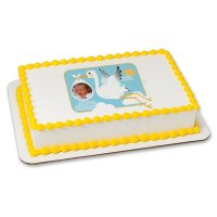 Baby Shower - Stork and Baby Photo Cake Frame
