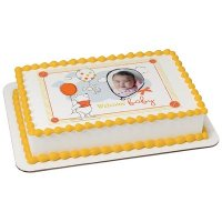 Winnie the Pooh - Welcome Baby Photo Cake Frame