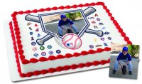 MLB Baseball Diamond Photo Cake Frame