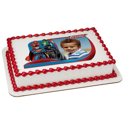 Justice League - Stand United Photo Cake Frame - Click Image to Close