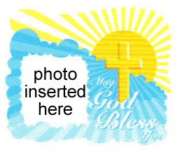 Religious - God Bless Cross Photo Cake Frame