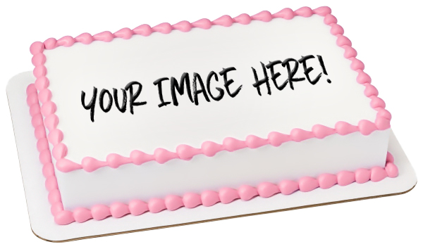 Custom Personalized Designed Edible Toppers Frosting Sheet & Wafer Paper